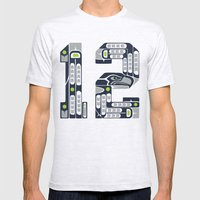 Seattle 12th Man Mens Fitted Tee Ash Grey SMALL