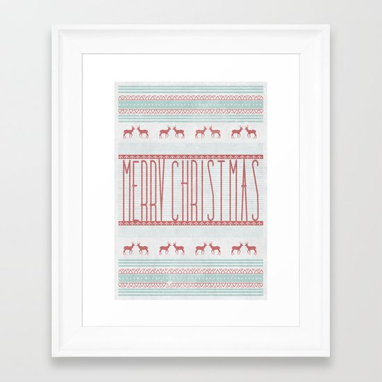 """merry""  Framed Art Print"