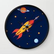 Spaceship! Wall Clock