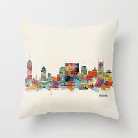 Music City Tennessee Sky… Throw Pillow
