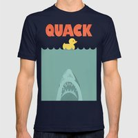 Jaws Rubber Duck Mens Fitted Tee Navy SMALL