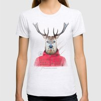 Cerf Womens Fitted Tee Ash Grey SMALL