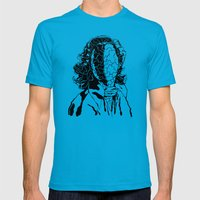 On The Shore Mens Fitted Tee Teal SMALL