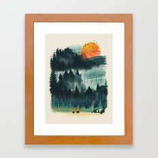 Wilderness Camp Framed Art Print