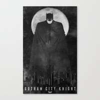 Gotham City Knight Canvas Print