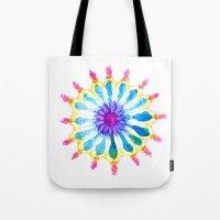 Mermaid Flower Tote Bag