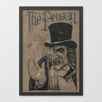 The Penguin (DRAWLLOWEEN… Canvas Print