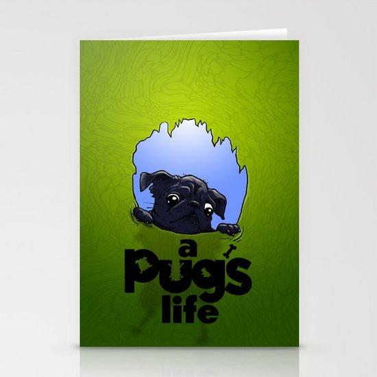 a Pug's life (dark) Stationery Card