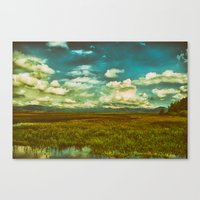 Flower Lake Canvas Print