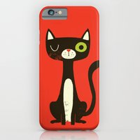 iPhone & iPod Case featuring Black Cat by Monster Riot