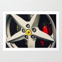 Ferrari Wheel Art Print