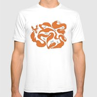 Fox Tail Maze Mens Fitted Tee White SMALL