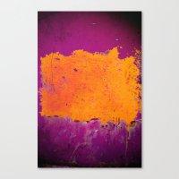 Orange & Purple Canvas Print