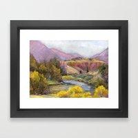 Ruby Mountain Framed Art Print