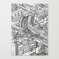 The Town of Train 2 Canvas Print