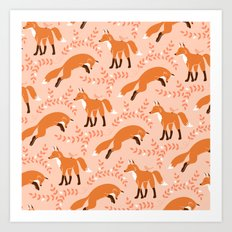 Socks the Fox - Dawn Art Print