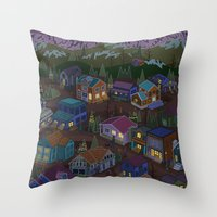Adventure Town Throw Pillow