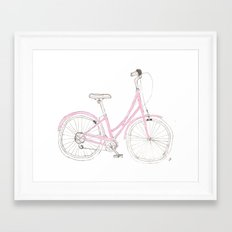 Pink Bike Framed Art Print