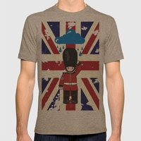 LONDON Mens Fitted Tee Tri-Coffee SMALL