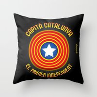 Capità Catalunya Throw Pillow