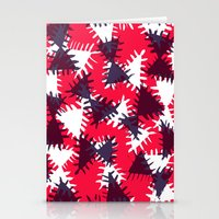 Triangle painted and digital pattern Stationery Cards