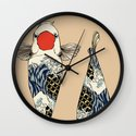 The Great Wave Of Koi Wall Clock