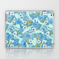 Weapon Floral-Blue Laptop & iPad Skin