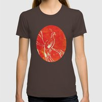 Peacock Of Fire Womens Fitted Tee Brown SMALL