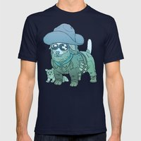 Kurt Russell Terrier - R.J. MacReady Mens Fitted Tee Navy SMALL