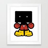 Bloc Hed Framed Art Print