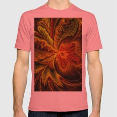 Autumn Orchid Mens Fitted Tee Pomegranate SMALL