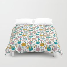 Pattern Project #14 / Bunny Faces Duvet Cover