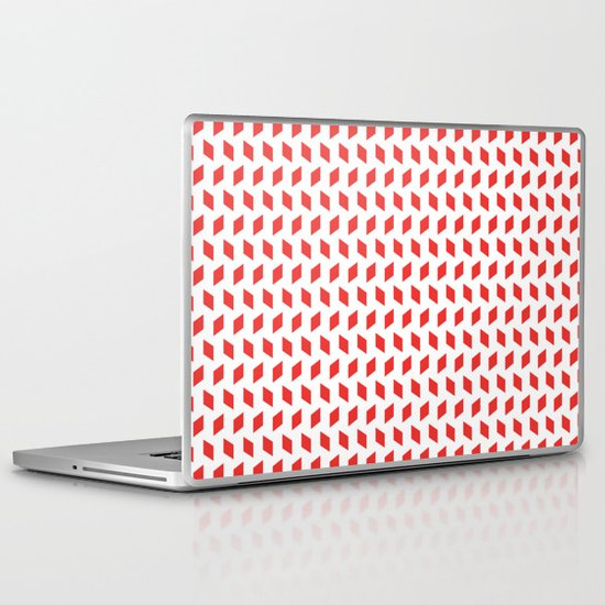 rhombus bomb in poppy red Laptop & iPad Skin