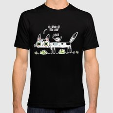 Annoyed Cat SMALL Black Mens Fitted Tee