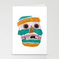 Stripy Skull  Stationery Cards