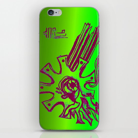 Simplistic Alien iPhone & iPod Skin