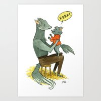 Wolfman And Wolfson  Art Print