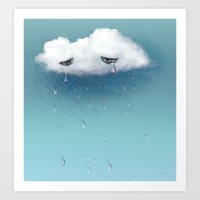 crying cloud Art Print
