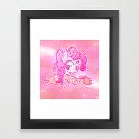 GRUNGE Pinkie Pie Framed Art Print