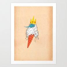 Ice king as an ice cream  Art Print