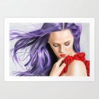 Red! Art Print