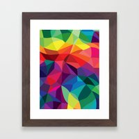 Color Shards Framed Art Print