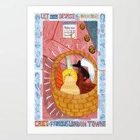 London In A Basket! Art Print
