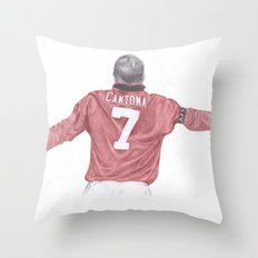 Eric Cantona Throw Pillow