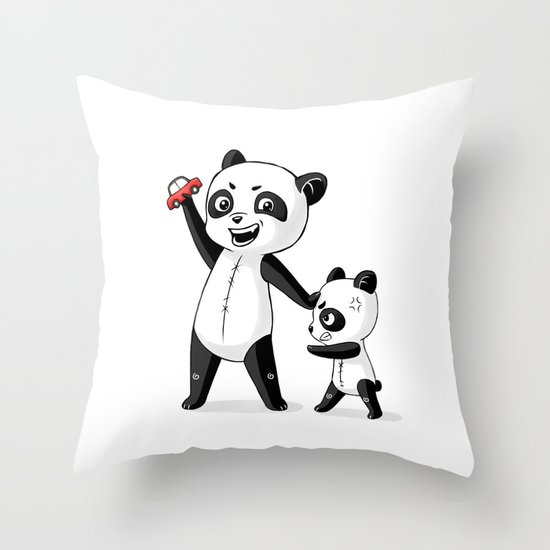 Panda Brothers Throw Pillow