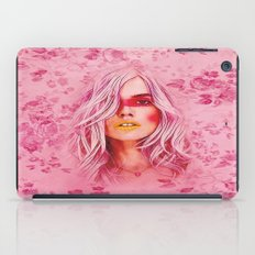 Girl with pink hair iPad Case