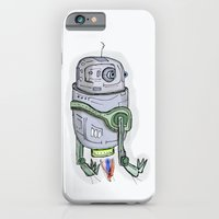 robot iPhone & iPod Cases featuring robot by Rabassa