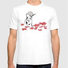 Birds SMALL Mens Fitted Tee White
