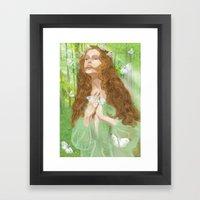Rapture (Nymph) Framed Art Print