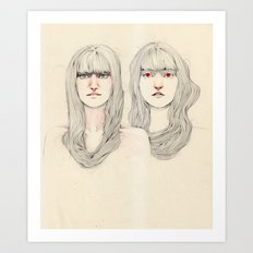 Hair Play 09 Art Print